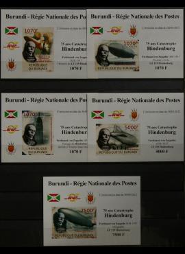 Burundis, pilna 2012m serija MNH** V