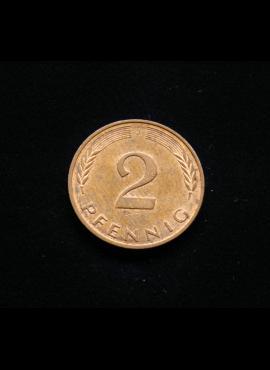 Vokietija, 2 pfenigai 1989m-J