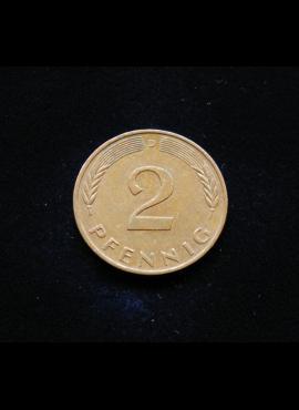 Vokietija, 2 pfenigai 1990m-D