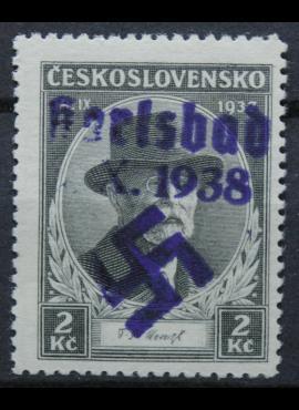 Vokietijos Reichas, Sudetų žemės, Karlsbadas MiNr 46 MNH**