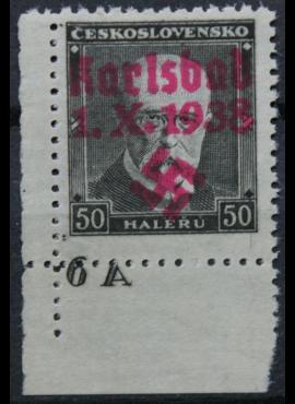 Vokietijos Reichas, Sudetų žemės, Karlsbadas MiNr B 41 MNH**