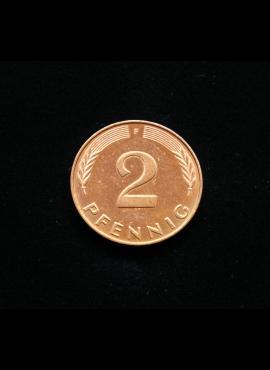 Vokietija, 2 pfenigai 1991m-F