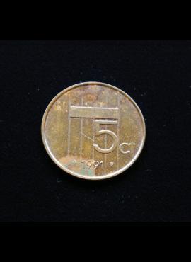 Nyderlandai, 5 centai 1991m