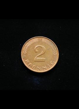 Vokietija, 2 pfenigai 1996m-F