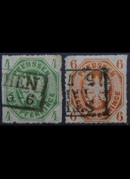 Senoji Vokietija, Prūsija, 1861m, pilna serija, MiNr 14-15 Used(O)