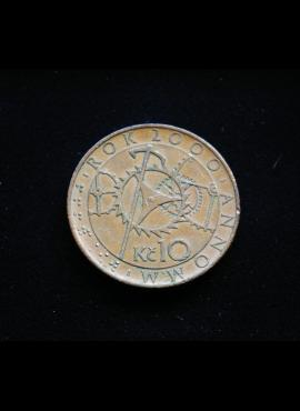 Čekija, proginės 10 kronų 2000m A