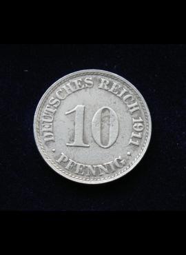 Vokietijos Imperija, 10 pfenigių 1911m-A