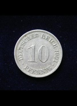 Vokietijos Imperija, 10 pfenigių 1901m-A