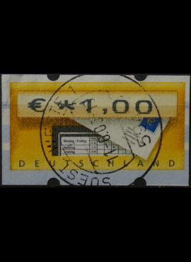 Vokietija, pašto automatų ženklas MiNr 5 Used(O)