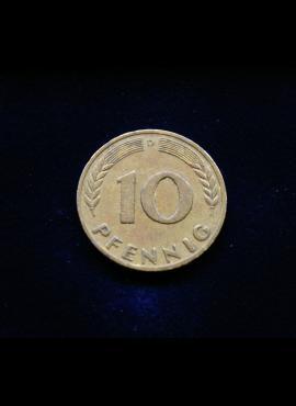 Vokietija, 10 pfenigų 1949m-D