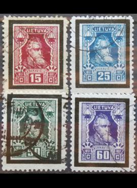 Tarpukario Lietuva, pilna serija, MiNr 274-277 Used(O)