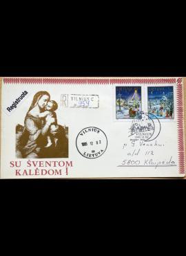 Lietuva, 1994m pirmos dienos vokas su MiNr 597-598 G