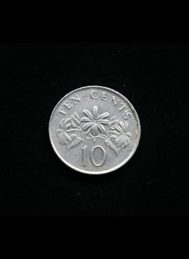 Singapūras, 10 centų 1990m A