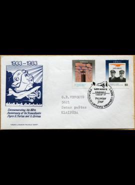 Lietuva (Kanada), 1993m pirmos dienos vokas su MiNr 529-530 G