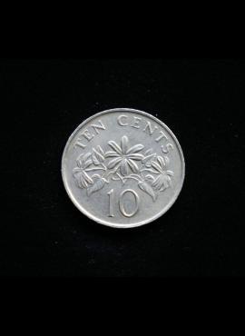 Singapūras, 10 centų 1991m A