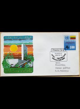 Lietuva (JTO), 1992m pirmos dienos vokas su MiNr 495 G