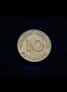 Vokietija, 10 pfenigų 1950m-F