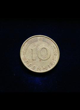 Vokietija, 10 pfenigų 1972m-D