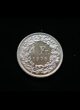 Šveicarija, 1 frankas 1978m