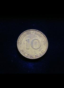 Vokietija, 10 pfenigų 1972m-J
