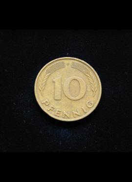 Vokietija, 10 pfenigų 1976m-F