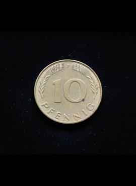 Vokietija, 10 pfenigų 1977m-F