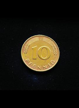 Vokietija, 10 pfenigų 1979m-J