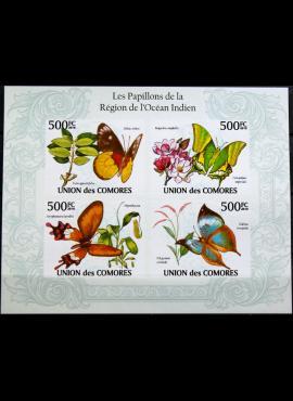 Komorų salos, pilna 2010m neperforuota serija MNH**