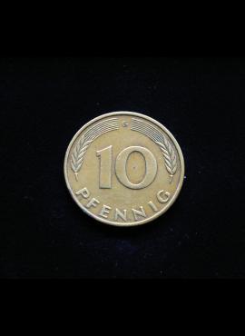 Vokietija, 10 pfenigų 1981m-G