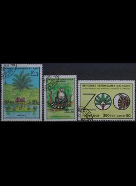 Madagaskaras, pilna serija ScNr 858-860 Used(O)