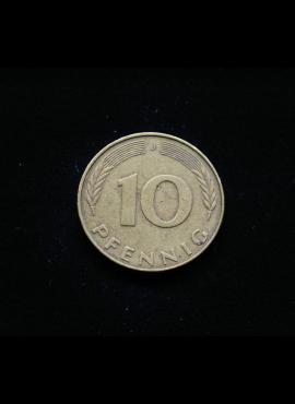 Vokietija, 10 pfenigų 1983m-J