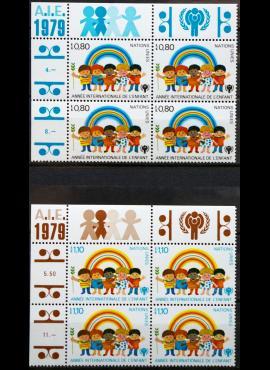 JTO, Ženevos biuras, pilna serija kvartblokiais, MiNr 83-84 MNH**
