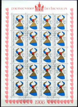 Lichtenšteinas, pilnas mažasis lapukas ScNr 411 Used(O)