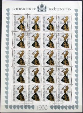 Lichtenšteinas, pilnas mažasis lapukas ScNr 414 Used(O)