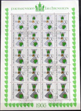 Lichtenšteinas, pilnas mažasis lapukas ScNr 412 Used(O)
