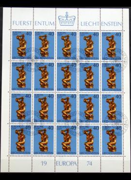Lichtenšteinas, pilnas mažasis lapukas ScNr 544 Used(O)