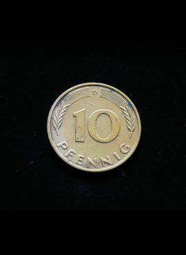 Vokietija, 10 pfenigų 1986m-D
