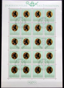 Lichtenšteinas, pilnas mažasis lapukas ScNr 477 Used(O)