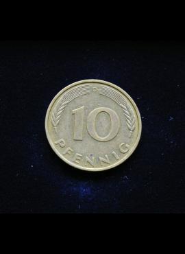 Vokietija, 10 pfenigų 1987m-D