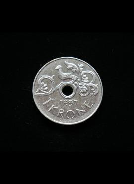 Norvegija, 1 krona, 1997m