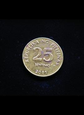 Filipinai, 25 santimai 2001m