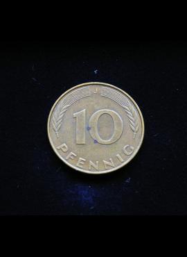Vokietija, 10 pfenigų 1989m-J