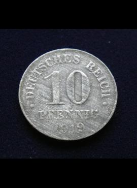 Vokietijos Imperija, 10 pfenigių 1919m