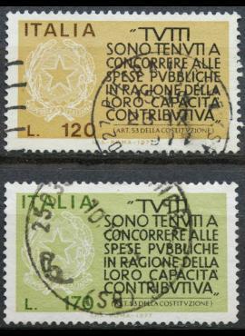Italija, pilna serija ScNr 1259-1260 Used(O)