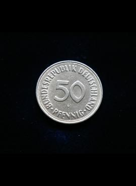 Vokietija, 50 pfenigų 1969m-F