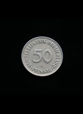 Vokietija, 50 pfenigų 1974m-J
