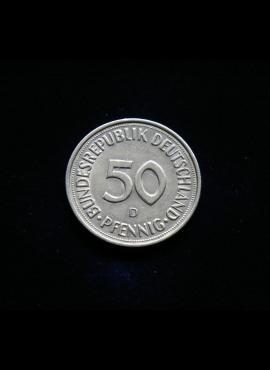 Vokietija, 50 pfenigų 1976m-D