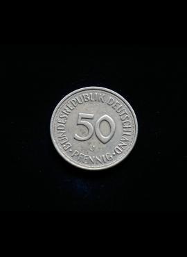 Vokietija, 50 pfenigų 1982m-J