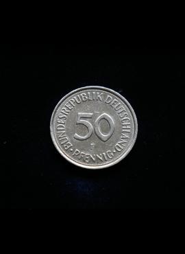 Vokietija, 50 pfenigų 1983m-F