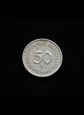 Vokietija, 50 pfenigų 1989m-D